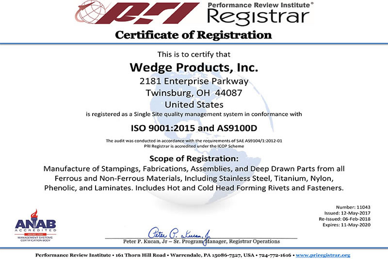ISO 9001:2008 and AS9100-C CERTIFIED